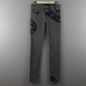 7FAM | gwenevere gray tie dye skinny jeans